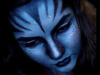Maquillaje de Avatar para Halloween Web de la Belleza