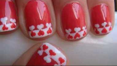 Manicure especial para San Valentín