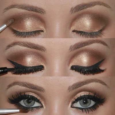 maquillaje ojos tonos marrones