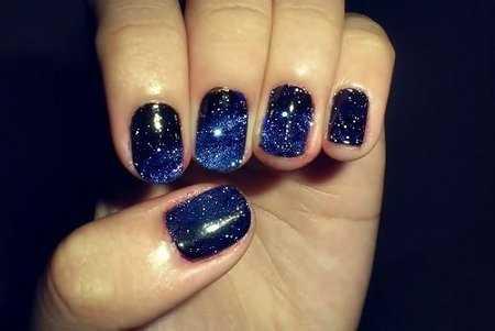 Unas Azules Con Piedras Imagui