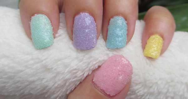 Diseño de uñas con sal ¡Me fascina!