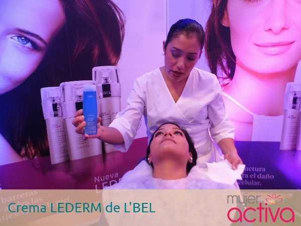Tratamiento facial con la crema LEDERM